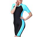 Χαμηλού Κόστους Έπιπλα Κατασκήνωσης-SBART Γυναικεία Dive κοστούμι του δέρματος 1.8mm Στολές κατάδυσης SPF50 Προστασία από τον ήλιο UV Γρήγορο Στέγνωμα Κοντομάνικο Μποστινό Φερμουάρ Boyleg - Κολύμβηση Καταδύσεις Σέρφινγκ Patchwork