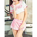povoljno Seksi tijela-Žene Izrezati Sexy Seksi spavaćica / kineska haljina / Odijelo Noćno rublje Jednobojni Blushing Pink L XL XXL / V izrez