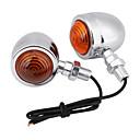 זול תאורת אופנוע-עבור הארלי 2pcs אופנוע כרום כדור bulb 12v הפעל אות אור מחוון מנורה ענבר