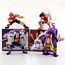 זול דמויות אקשן של אנימה-נתוני פעילות אנימה קיבל השראה מ One Piece Ace Monkey D. Luffy PVC 13 cm CM צעצועי דגם בובת צעצוע