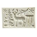 billige Bakeformer-jul elg juletre snøfnugg istapp silikon mold fondant kake dekorasjonsform