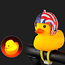 זול כלים למקרי חירום-פעמון לאופניים פנס קדמי לאופניים צהוב ברווז קטן צורה עמיד למים קל משקל זורחת מתיחה עמיד ל אופני כביש אופני הרים אופניים מתקפלים רכיבת אופניים ג'ל סיליקה אדום כחול אפור 1 pcs