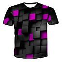 billiga Hälsokit för resan-Tryck, 3D T-shirt Herr Rund hals Purpur