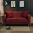 זול כיסויים-כיסוי ספה לכיסוי ספה חוט צבוע מפוליאסטר / כותנה / כיסוי ספה יין כהה / רומנטי