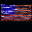 זול דלת חומרה & מנעולים-7m הדגל האמריקאי מחרוזת האורות 135 מדים צבע רב עיטור עבור חוצות / חג המולד / עצמאות יום 220-240v 1set