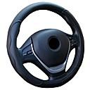 billige Rattovertrekk til bilen-universell bil skinn ratthjul deksel glidelås for 38cm / 15 ratt