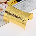 billiga Jewelry Set-Dam Manschett Armband Bred Bangle Retro Lycklig Stilig Legering Armband Smycken Guld / Silver Till Gåva Dagligen
