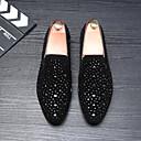 ราคาถูก รองเท้าแตะ & Loafersสำหรับผู้ชาย-สำหรับผู้ชาย รองเท้าหนังนิ่ม หนังนิ่ม ฤดูร้อนฤดูใบไม้ผลิ / ฤดูใบไม้ร่วง & ฤดูหนาว ไม่เป็นทางการ / อังกฤษ รองเท้าส้นเตี้ยทำมาจากหนังและรองเท้าสวมแบบไม่มีเชือก สีดำ / หินประกาย / สำนักงานและอาชีพ
