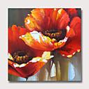voordelige Abstracte schilderijen-Hang-geschilderd olieverfschilderij Handgeschilderde - Abstract Bloemenmotief / Botanisch Modern Zonder Inner Frame