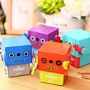 billige Lagring og oppbevaring-1pc tilfeldig farge manuell blyantspisser søt robot tegneserie mønster kontor skole forsyninger
