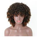 ราคาถูก วิกผมสังเคราะห์-วิกผมสังเคราะห์ แอฟริกา Afro Kinky กับ Bangs ผมปลอม Short ความยาวระดับกลาง สีน้ำตาลอ่อน สังเคราะห์ 16 inch สำหรับผู้หญิง ผู้หญิง Color Gradient วิกผมแอฟริกันอเมริกัน สีน้ำตาลอ่อน / สำหรับผู้หญิงผิวดำ