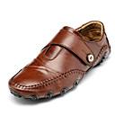 Χαμηλού Κόστους Ανδρικά Φορετά & Μοκασίνια-Ανδρικά Παπούτσια άνεσης PU Καλοκαίρι Καθημερινό Μοκασίνια & Ευκολόφορετα Μη ολίσθηση Μαύρο / Καφέ