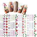 Χαμηλού Κόστους Αυτοκόλλητα Νυχιών-1 pcs Αυτοκόλλητα Σειρά Λουλουδιών / Σειρά κινούμενων σχεδίων τέχνη νυχιών Μανικιούρ Πεντικιούρ Mini Style / Ασφάλεια / Εργονομικός Σχεδιασμός Στυλάτο / Απλός