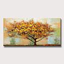 billige Blomster-/botaniske malerier-Hang malte oljemaleri Håndmalte - Landskap Blomstret / Botanisk Moderne Uten Indre Ramme