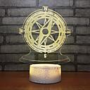 billige 3D Nattlamper-bursdag gaver kreativ kompass 3d hode seng liten natt akryl bordlampe dekorative bord lamper til stue
