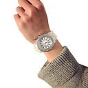 baratos Copos Inovadores-Relógio Elegante Silicone Analógico Preto Branco