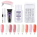 billige Neglelakk og gellakk-1 sett spiker poly gel sett spiker uv led forleng builder akryl gel for å bygge manikyr nail art tips forlengelse polygel kit