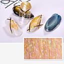 Χαμηλού Κόστους lip gloss-1 pcs Αυτοκόλλητα Σειρά κινούμενων σχεδίων / Δημιουργικό τέχνη νυχιών Μανικιούρ Πεντικιούρ Mini Style / Ασφάλεια / Λεπτή σχεδίαση Στυλάτο / Απλός Καθημερινά / Φεστιβάλ