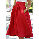cheap Men's Bags-Women's Street chic A Line Skirts - Solid Colored Green Black Red M L XL