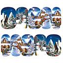 Χαμηλού Κόστους Αυτοκόλλητα Νυχιών-1 pcs Αυτοκόλλητα Δημιουργικό τέχνη νυχιών Μανικιούρ Πεντικιούρ Mini Style / Ασφάλεια / Λεπτή σχεδίαση Στυλάτο Καθημερινά / Φεστιβάλ