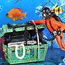 billige Wall Tapestries-Fisketank Akvarium Dekorasjon Dekorasjoner til hjemmet Akvarium Pyntegjenstander Svart Giftfri og smakløs Dekorasjon Harpiks Plast 1 5*5.5*4 cm