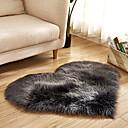 billige Tepper-Dongguan pho_07r4 hjerteformet 40x50cm kjærlighet imitasjon ull teppe gulvmatte madrass teppe sofa pute fotpute plysj stue salongbord sovesofa hvit