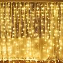 baratos Faixas de Luzes LED-3mx2m 240led branco / quente branco / multicolorido luz romântica decoração de casamento ao ar livre cortina de luz do natal