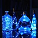 billige LED-stringlys-0,75m vinflaske korkstrengelys 15 leds smd 0603 varm hvit / hvit / flerfarger vanntett / bryllupsfesten festdekorbatterier drevet 1pc