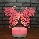 baratos Luzes da noite 3D-Linda borboleta 3d noite luz da lâmpada sono decoração de casa presente de aniversário romântico presente de natal menina