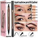 Χαμηλού Κόστους Φρύδια-2 σε 1 eyeliner τέσσερις υγρό φρύδι μολύβι αδιάβροχο πολλαπλών λειτουργιών μακροχρόνια μακιγιάζ των ματιών