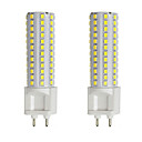 billige LED-stringlys-2pcs 10 W LED-kornpærer LED-lamper med G-sokkel 300 lm G12 T 108 LED perler SMD 2835 Varm hvit Hvit 85-265 V