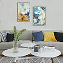 billige Innrammet kunst-Innrammet Kunstrykk Innrammet Sett - Abstrakt Polystyrene Olje Maleri Veggkunst