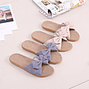 ราคาถูก รองเท้าแตะ-รองเท้าแตะของผู้หญิงสไตล์ผีเสื้อโบว์ / รองเท้าแตะผ้าลินิน / รองเท้าแตะของใช้ในครัวเรือน / รองเท้าแตะของผู้โดยสาร / รูปแบบลาย / เส้นใยโพลีเอสเตอร์รองเท้าแตะระบายอากาศ