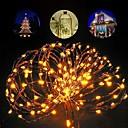 Χαμηλού Κόστους LED Bi-pin Λαμπτήρες-Dongguan pho_07l510m 100 φώτα οδήγησε χάλκινο σύρμα ελαφριές χορδές τηλεχειριστήριο 8 λειτουργίες κουτί μπαταρίας + usb τροφοδοτικό (απομακρυσμένη μπαταρία αφαιρεθεί)
