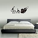 billige Veggklistremerker-romantisk engelsk kjærlighet vegg klistremerker - dyr vegg klistremerker dyr / landskap studie rom / kontor / spisestue / kjøkken