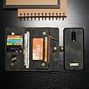 billiga Ficklampor-fodral Till OnePlus En Plus 7 / One Plus 7 Pro Plånbok / Korthållare / Stötsäker Fodral Enfärgad Hårt PU läder