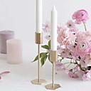 Χαμηλού Κόστους Κεριά & Κηροπήγια-Ευρωπαϊκό Στυλ Σίδερο Κηροπήγια Κηροπήγιο 4pcs, Κερί / Κερί
