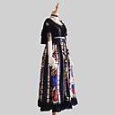 billige Vesker til barn-Gothic Style Vintage Gothic Lolita Kjoler Party-kostyme Kostume Festkjole Dame Japansk Cosplay-kostymer Svart Blomstermønster Vintage Blonder Kjegle Erme Kortermet Lang Lengde