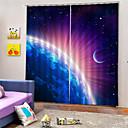 billige LED-stringlys-3d print privatliv to paneler polyester gardin for gutter rom stue vanntette støv-proof dekorative høy kvalitet gardiner