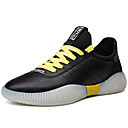 Χαμηλού Κόστους Ανδρικά Φορετά & Μοκασίνια-Ανδρικά Παπούτσια άνεσης PU Καλοκαίρι Καθημερινό Αθλητικά Παπούτσια Αναπνέει Λευκό / Μαύρο