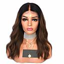 Χαμηλού Κόστους Περούκες από Ανθρώπινη Τρίχα-Συνθετικές μπροστινές περούκες δαντέλας Κυματιστό Μέσο μέρος Δαντέλα Μπροστά Περούκα Ombre Κοντό Μαύρο / Medium Auburn Συνθετικά μαλλιά 12-16 inch Γυναικεία Ρυθμιζόμενο Ανθεκτικό στη Ζέστη Πάρτι