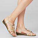 baratos Sandálias Femininas-Mulheres Sandálias Salto Baixo Peep Toe Tachas Camurça Formais Primavera Branco / Preto / EU40