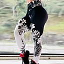ราคาถูก ชุดออกกำลังกายและชุดโยคะ-สำหรับผู้หญิง กางเกงโยคะ ลายบล็อคสี วิ่ง การออกกำลังกาย ยิมออกกำลังกาย กางเกงขาสั้น ชุดทำงาน ระบายอากาศ Moisture Wicking แห้งเร็ว Butt Lift Tummy Control เพรียวบาง