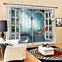 Χαμηλού Κόστους Έξυπνο Φως LED-3d ψηφιακή εκτύπωση σύγχρονη ιδιωτικότητα δύο πάνελ πολυέστερ κουρτίνα για υπαίθρια καθιστικό αδιάβροχο σκόνη-απόδειξη διακοσμητικές κουρτίνες