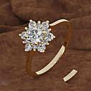 billige Graverte Ringer-personlig tilpasset Klar Kubisk Zirkonium Ring Klassisk Gave Love Festival Geometrisk Form 1pcs Gull Sølv