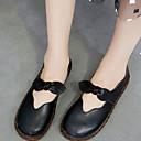 ราคาถูก รองเท้าแตะและรองเท้าโลฟเฟอร์สำหรับผู้หญิง-สำหรับผู้หญิง รองเท้าส้นเตี้ยทำมาจากหนังและรองเท้าสวมแบบไม่มีเชือก ส้นแบน ปลายกลม PU ไม่เป็นทางการ ฤดูร้อน สีดำ / Almond
