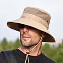 billige Tilbehør-Boonie hat 1 stk Bærbar Vindtett Anti-Stråling Bekvem Helfarge Terylene Høst til Herre Dame Camping / Vandring / Grotte Udforskning Reise Mørkegrå