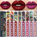billige Lipgloss-sexy skinnende diamant glitter væske leppestift varig vanntett metall perle fløyel leppe farge leppestift