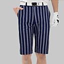billige Golfantrekk-Herre Bukser Golf Løp treningsklær utendørs Sommer / Elastan / Elastisk / Fort Tørring / Pustende / Stribe