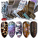 billiga folie Papper-hnuix 10 färger nagelkonst stjärnaöverföring papper het försäljning regnbåge himmel japansk stil nagelfolie klistermärke nagellack klistermärke